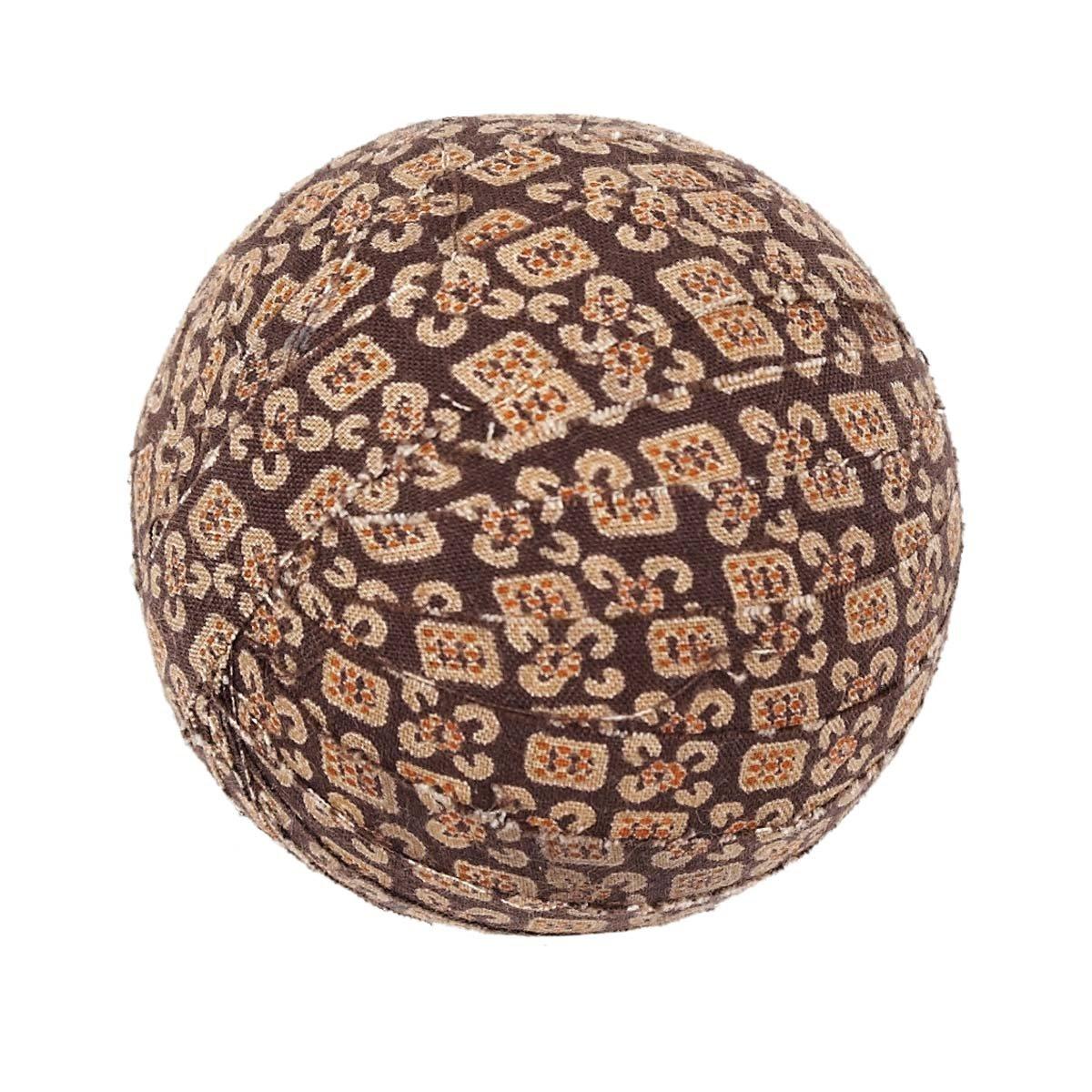 VHC Brands Rustic /& Lodge Decor Tacoma Brown #10 Round Fabric Ball Set of 6 2.5 Diameter Dark 10648