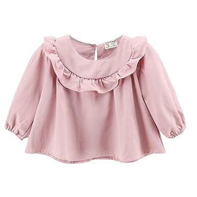 f37f0020 Dudu Cream Baby Girl Shirt, Toddler Tops Cotton Bottom Long Sleeve Tees For  9M-