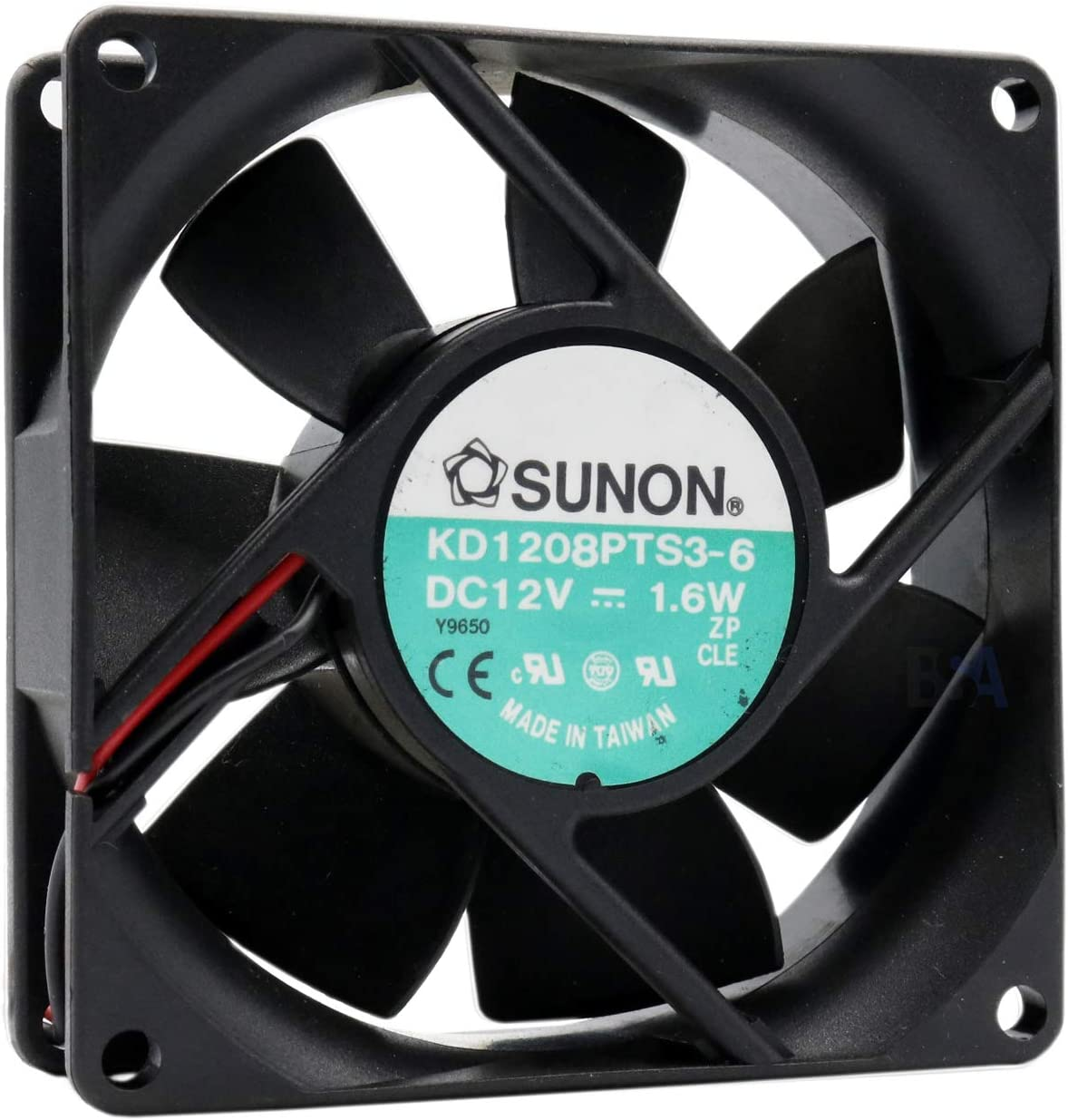 Sunon - Ventilador 80 mm 80 x 80 x 25 KD1208PTS3-6 12 V DC 0,13 A ...