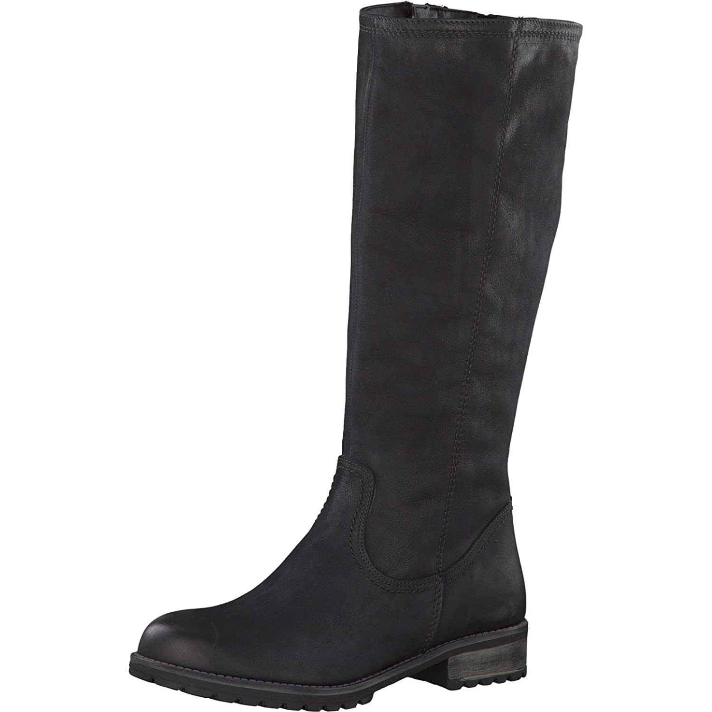 Tamaris Damen Stiefel 26690-21,Frauen Stiefel,Langschaftstiefel,gefüttert,Reißverschluss,Blockabsatz 3.5cm