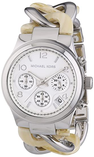 Amazon.com: Michael Kors Womens MK4263 - Runway Twist Chronograph Alabaster/Silver Watch: Michael Kors: Watches
