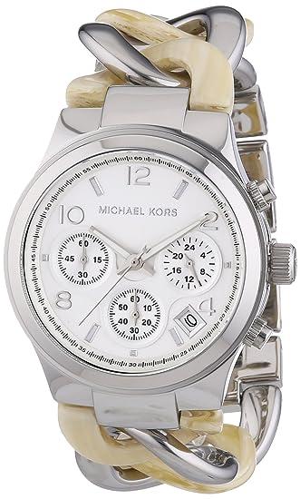 Amazon.com: Michael Kors Womens MK4263 - Runway Twist Chronograph Alabaster/Silver Watch: Michael Kors: Watches
