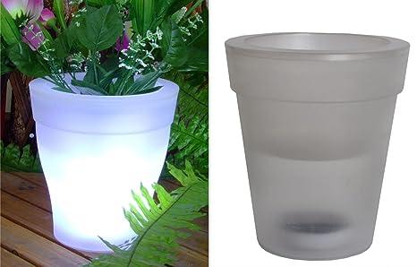Vaso per fiori e piante led lampada da giardino ad energia solare