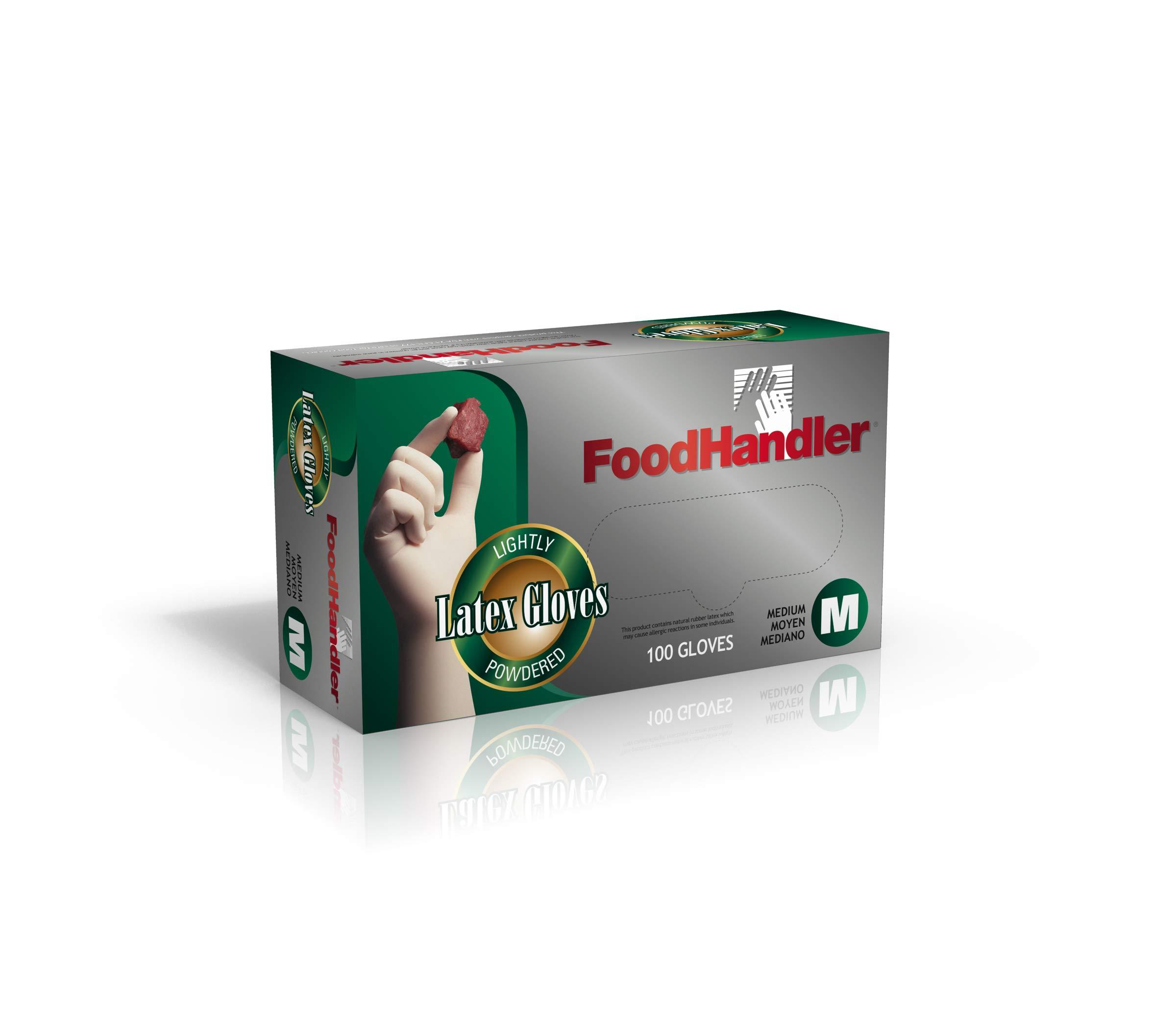 FoodHandler 100-FH4 FoodHandler Classic Latex MD Natural (Pack of 1000) by FoodHandler