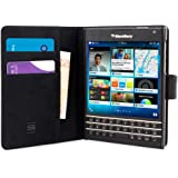 Passport Case, Snugg Leather Leather Flip Case [Card Slots] Executive BlackBerry Passport Wallet Case Cover and Stand [Lifetime Guarantee] - Legacy Series