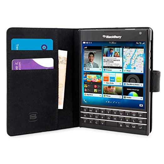 18 opinioni per Cover Passport, Snugg BlackBerry Passport Flip Custodia Case [Slot Per Schede]