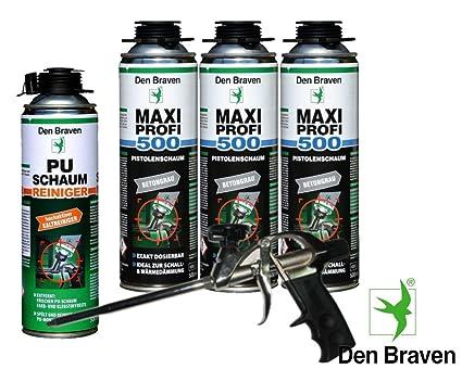 Den Braven Set profesional 3 x Maxi profesional 1 KB2 de – Pistola de espuma de