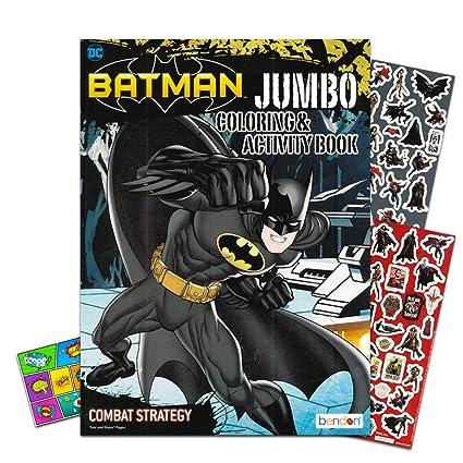 Justice League Batman Coloring Book Bundle with Batman Stickers & Specialty  Separately Licensed GWW Reward Sticker