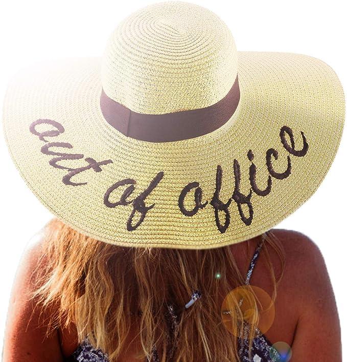 Amazon.com: belababy Mujer Sol Sombrero De Paja Verano ...