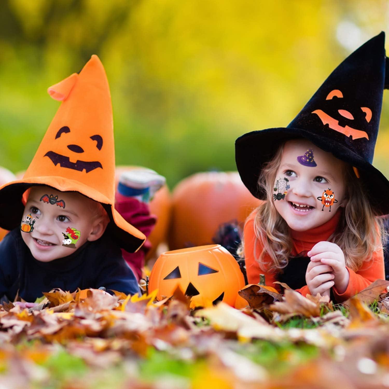 Halloween Kit Tatouage pour Garcon Filles Cadeau Annivairesaire Etanche Tatouage Eph/ém/ère de Halloween HOWAF 96pcs Tatouage Temporaire Enfant Enfant f/ête dhalloween Cosplay D/écorations