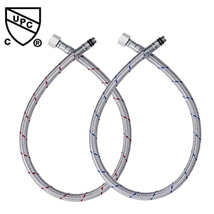Peppermint Faucet Flexible Water Supply Hoses 3/8 Inch Stainless ...