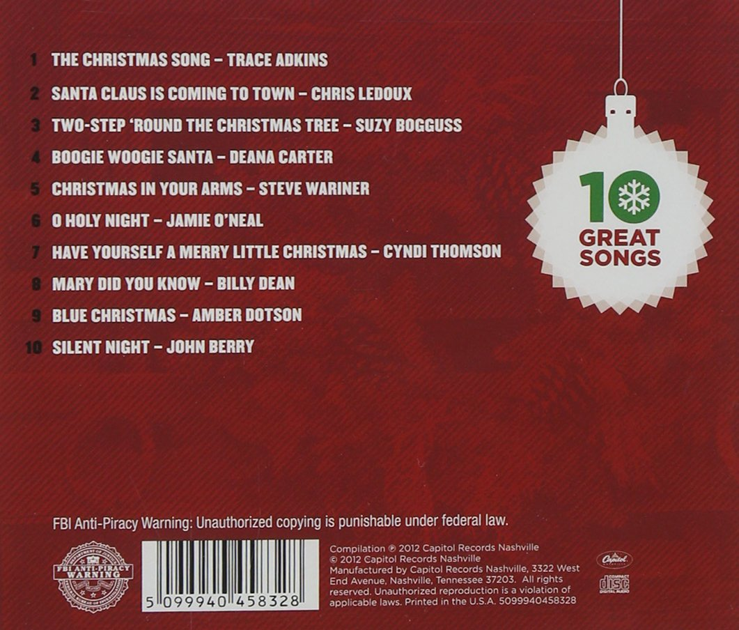 10 Great Country Christmas Songs, Darius Rucker, Trace Adkins, Suzy ...