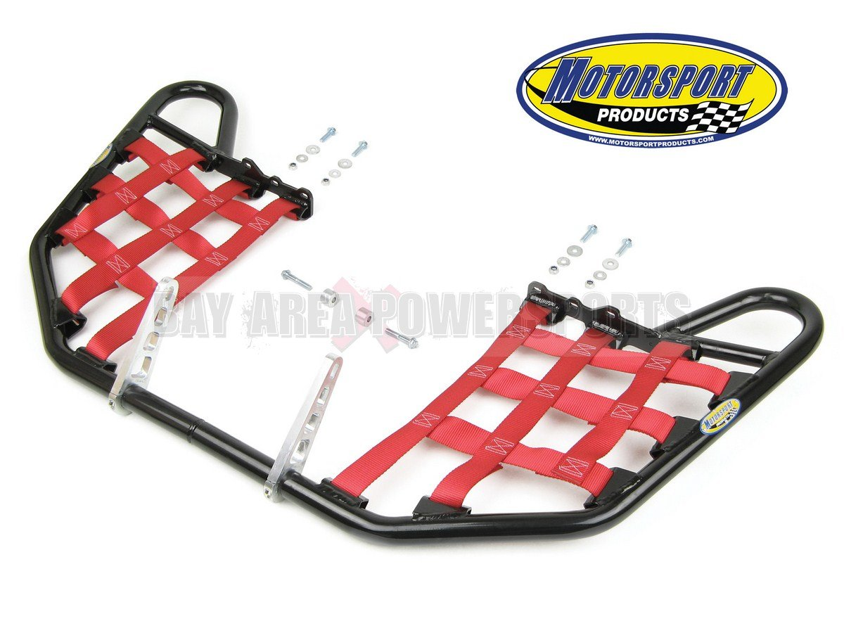 Bombardier Can Am Ds650 Ds 650 Nerfbars Atv Nerf Bars Black Bars/Red Nets