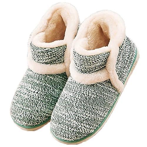 31d951afb Zapatillas casa para Unisexo Antideslizante Pantufla Cerrada Pelusa  Invierno: Amazon.es: Zapatos y complementos