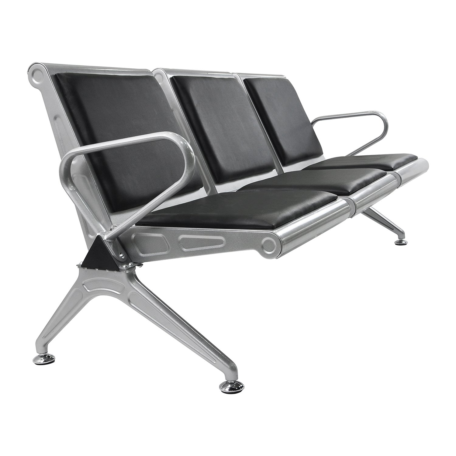 Sliverylake Heavy Duty Office Reception Area Airport Waiting Room Chair 3 Seat Bench Cushion