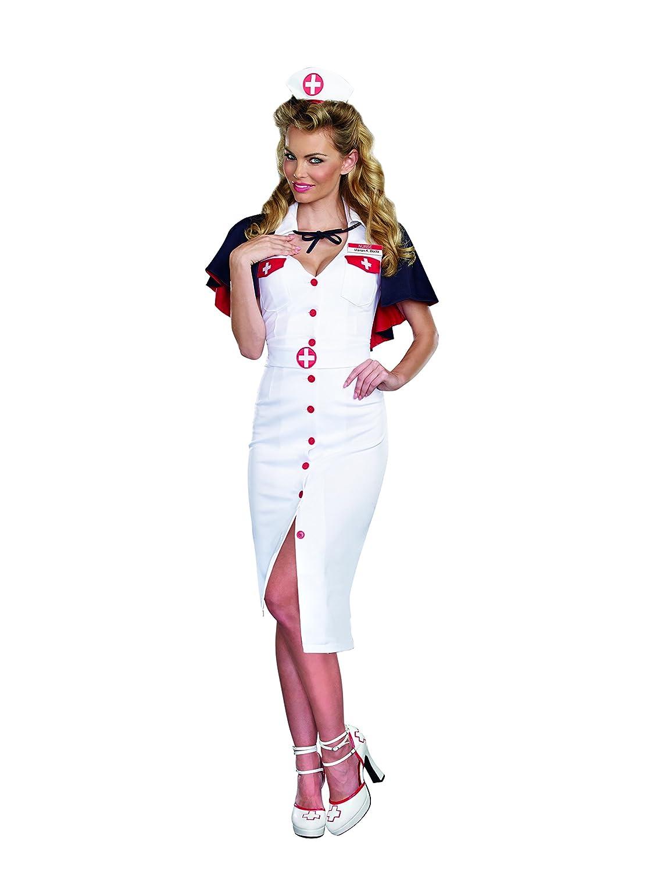 Amazon.com Dreamgirl Womenu0027s Night Nurse Vintage Style Costume Clothing  sc 1 st  Amazon.com & Amazon.com: Dreamgirl Womenu0027s Night Nurse Vintage Style Costume ...