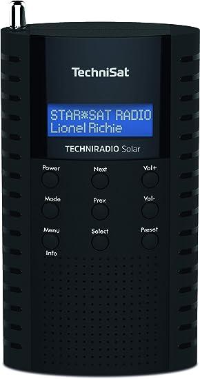 Technisat Techniradio Solar Tragbares Dab Radio Dab Ukw Kopfhöreranschluss Aufladung über Solarpanel Ipx 5 Spritzwassergeschützt Schwarz Heimkino Tv Video