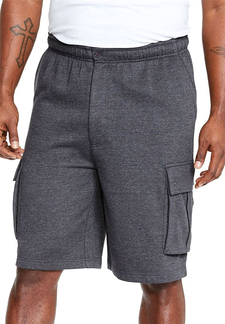 KingSize Men's Big & Tall Fleece Cargo Shorts