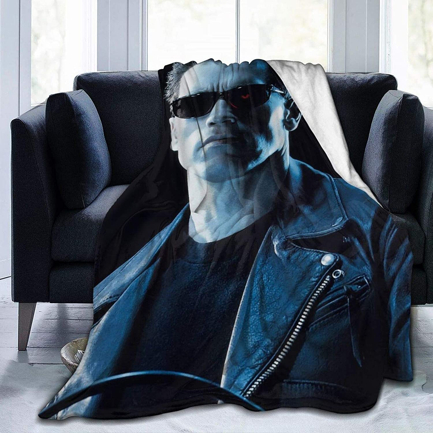 The Terminator Ultra Soft Micro Fleece Blanket Throw Blanket Lightweight Soft and Warm for Men Women Kids Couch and Bed Home decor50 x40