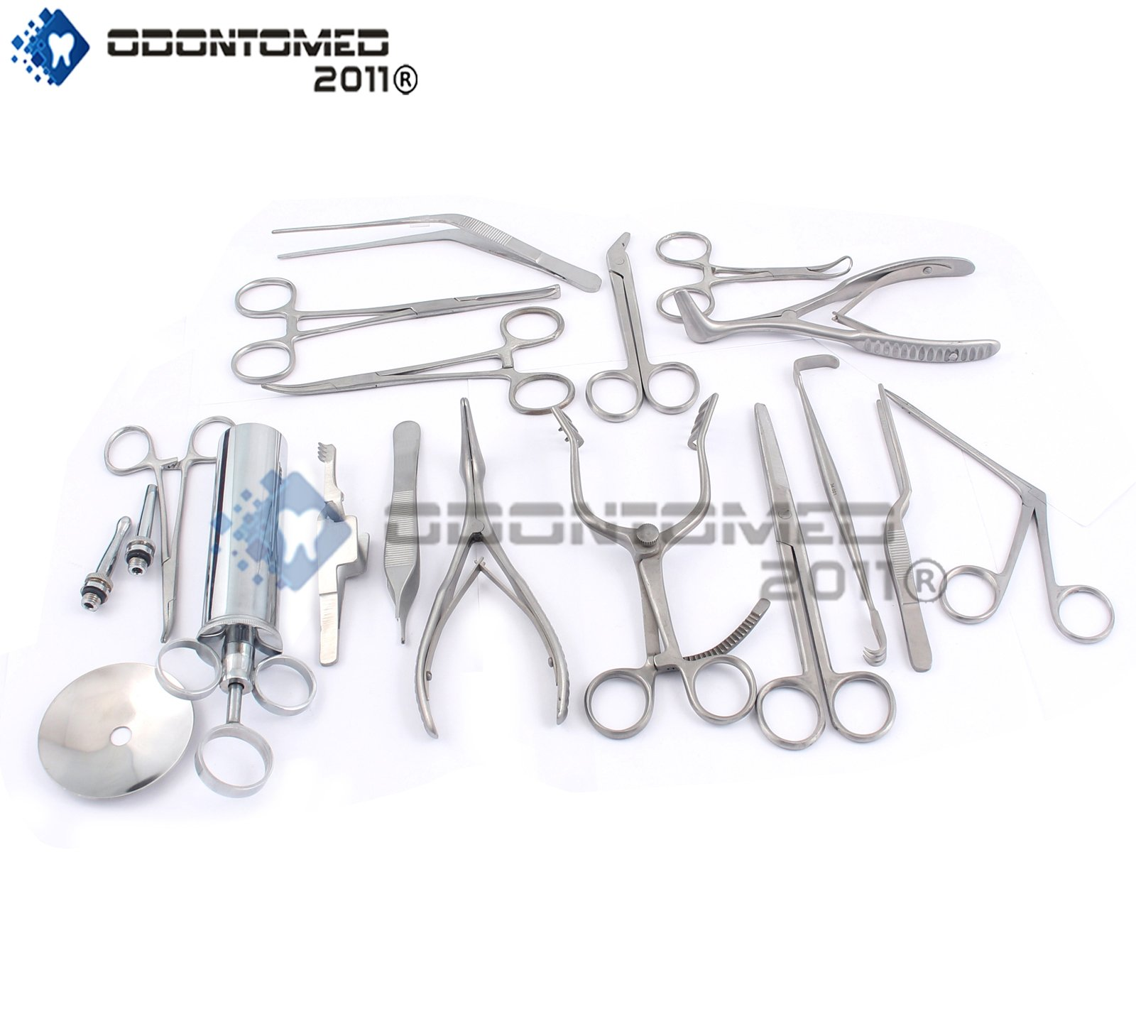 OdontoMed2011 NEW SET OF 16 PCS ( ENT ) EAR AND NOSE INSTRUMENTS FORCEPS VIENNA NASAL SPECULUM HARTMAN ALLIGATOR ! EAR SYRINGE SCISSORS ODM by ODONTOMED