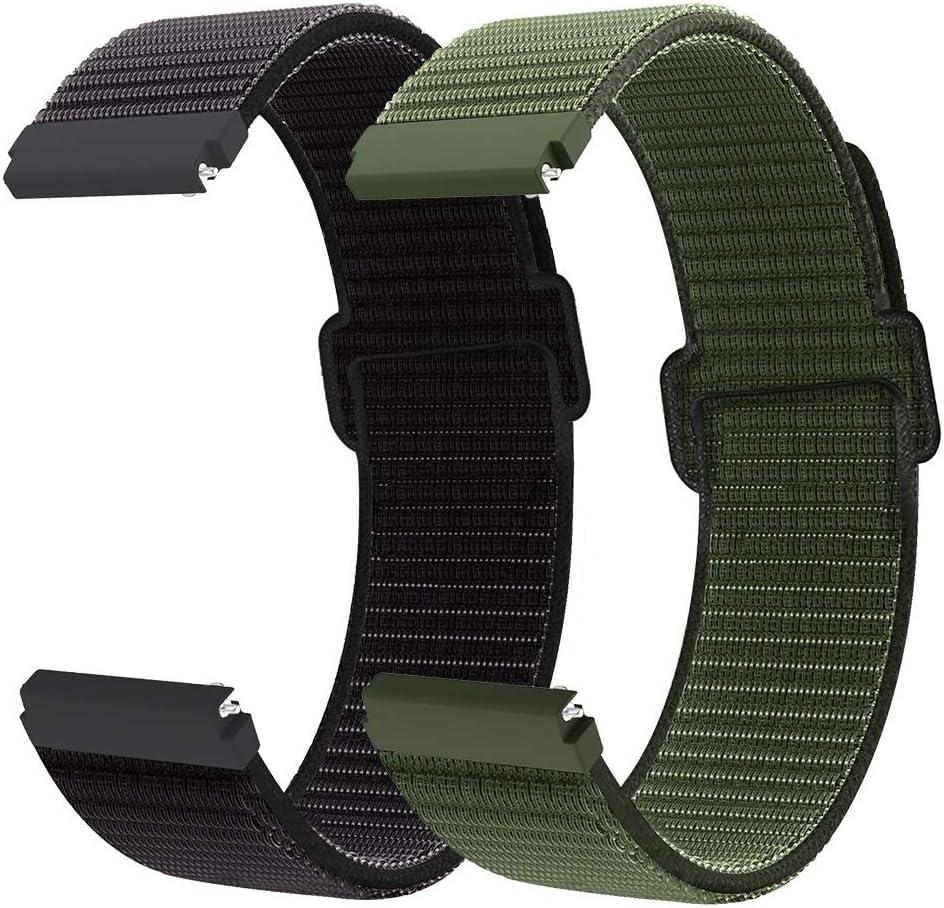 Younsea Correa para Gear S2 Classic/Sport/Vivomover HR, Correa de Reloj de Nailon 20mm para Galaxy Watch 3 41mm/Galaxy Watch Active 2/Active 40mm 42mm/Vivomove/Watch2 Pro/Moto 360 2nd Gen Men's 42mm