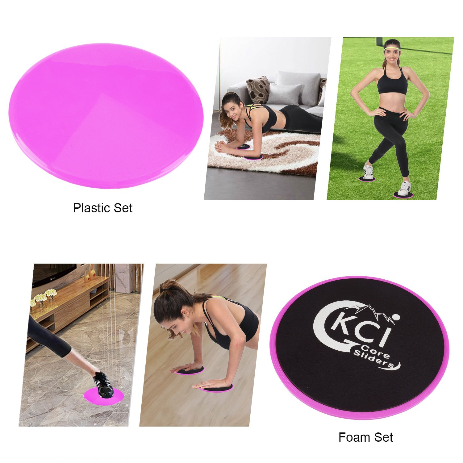 GKCI Core Sliders Gliding Discs Fitness Sliders for Workout Exercise with Sports Headband and Washable Bag