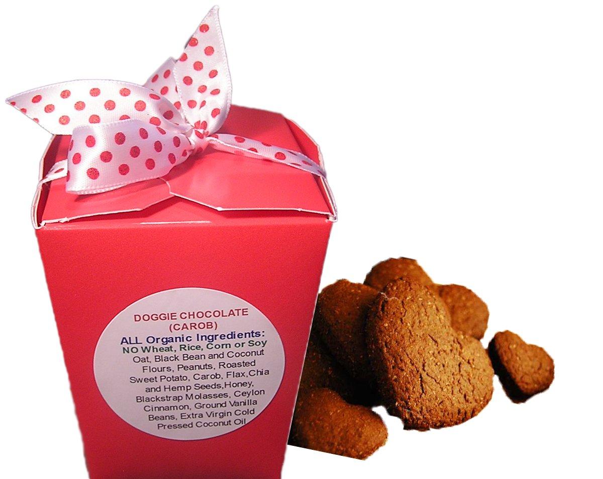 Amazon.com : Doggie Chocolate Carob Hearts 4oz Box : Pet Treat ...