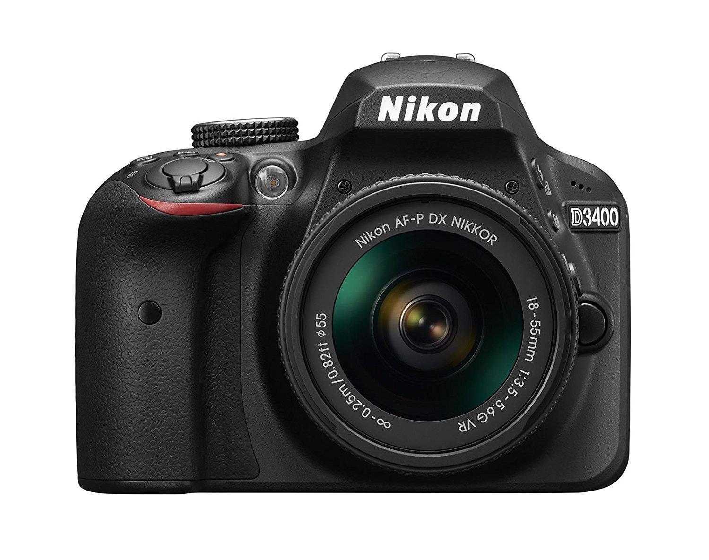 ニコン D3400 デジタル一眼レフカメラ AF-P DX NIKKOR 18-55mm f/3.5-5.6G VRレンズ付き ブラック (認定リファービッシュ品)   B06X9KRS6C