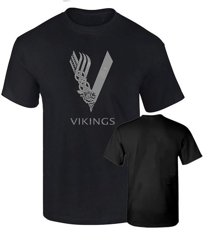 B & C Camiseta Vikings Vikingos Impresion Plateada Premium Algodon Calidad 190grs: Amazon.es: Ropa y accesorios