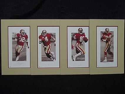 Ricky Watters Tom Rathman John Taylor Jerry Rice Autographed Signed 49ers  Lithographs Memorabilia - JSA Authentic 09b7c4c51