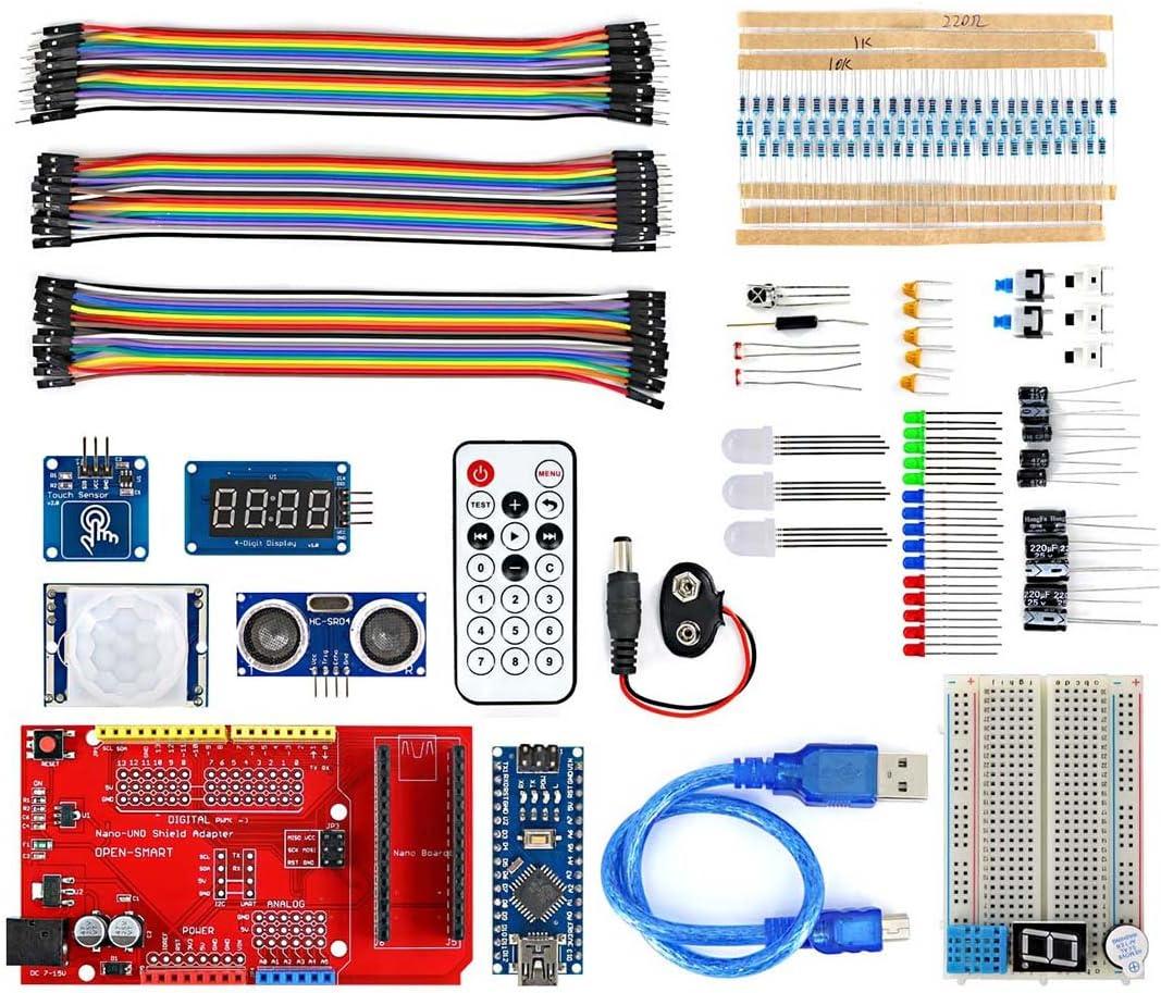 fokom Componentes Electrónicos Breadboard kit con Nano tarjeta para Arduino Nano: Amazon.es: Electrónica