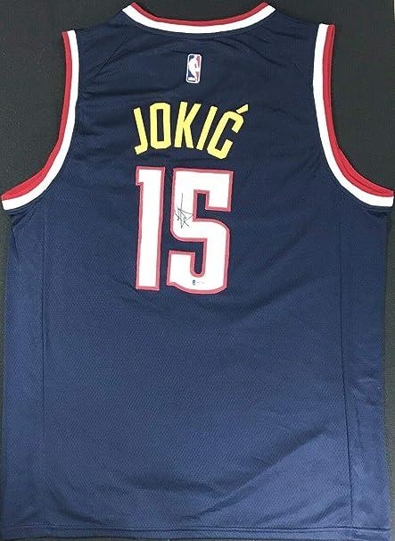 low priced adf1c a0b41 Nikola Jokic Signed Jersey - THE JOKER!!! Nike #1 Beckett ...