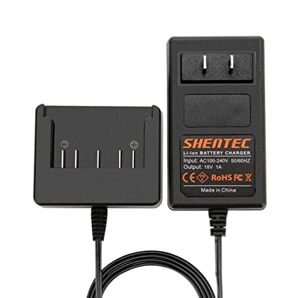 4ffdd2ea92b Shentec 18V Lithium-Ion Slide-in Style Battery Charger Compatible with Bosch  18V BAT609