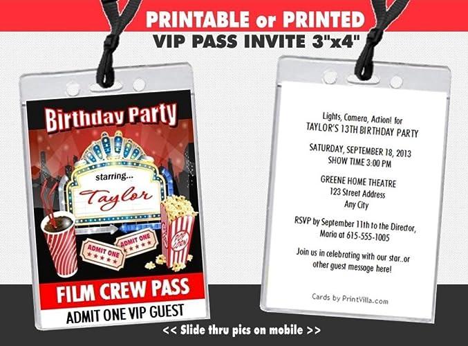 Amazon Movie Night Birthday Party VIP Pass Invitation