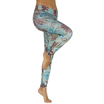 Niyama Unique Yoga Pant for Women - Roses and Wine - 100% Opaque, Italian Fabric Provides a Shaping Compression Legging Suited for All Workouts.