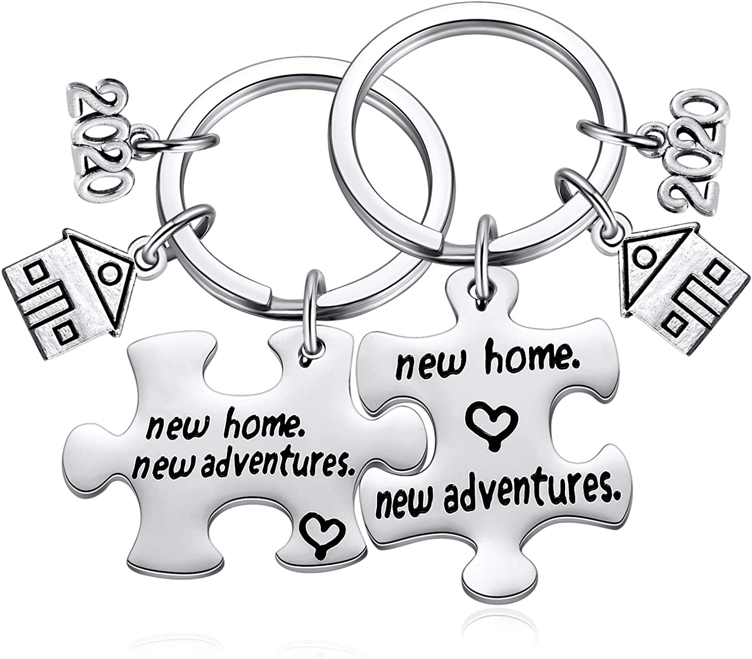 Ralukiia 2020 New Home House Warming Key Chain Going Away Gifts Basket for Friends Moving Welcome Neighbor, Housewarming Presents for New Apartment First Time Homeowners Couple
