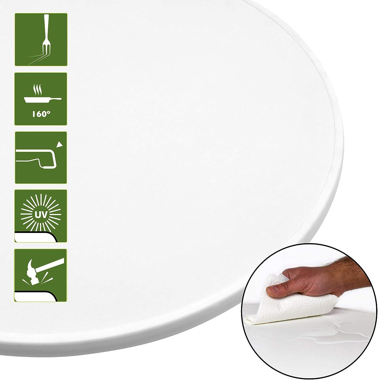 Party Stehtisch Beautissu Sylt Gastro Stehtisch klappbar /Ø 70 cm Outdoor Bistrotisch rund Wei/ß Klapptisch Gastroqualit/ät /& Hitzebest/ändig