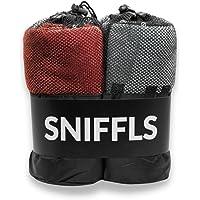 Sniffls® Ręczniki dla psa klasy premium (2 sztuki, miękkie i nadające się do prania), bardzo chłonne i szybkoschnące…