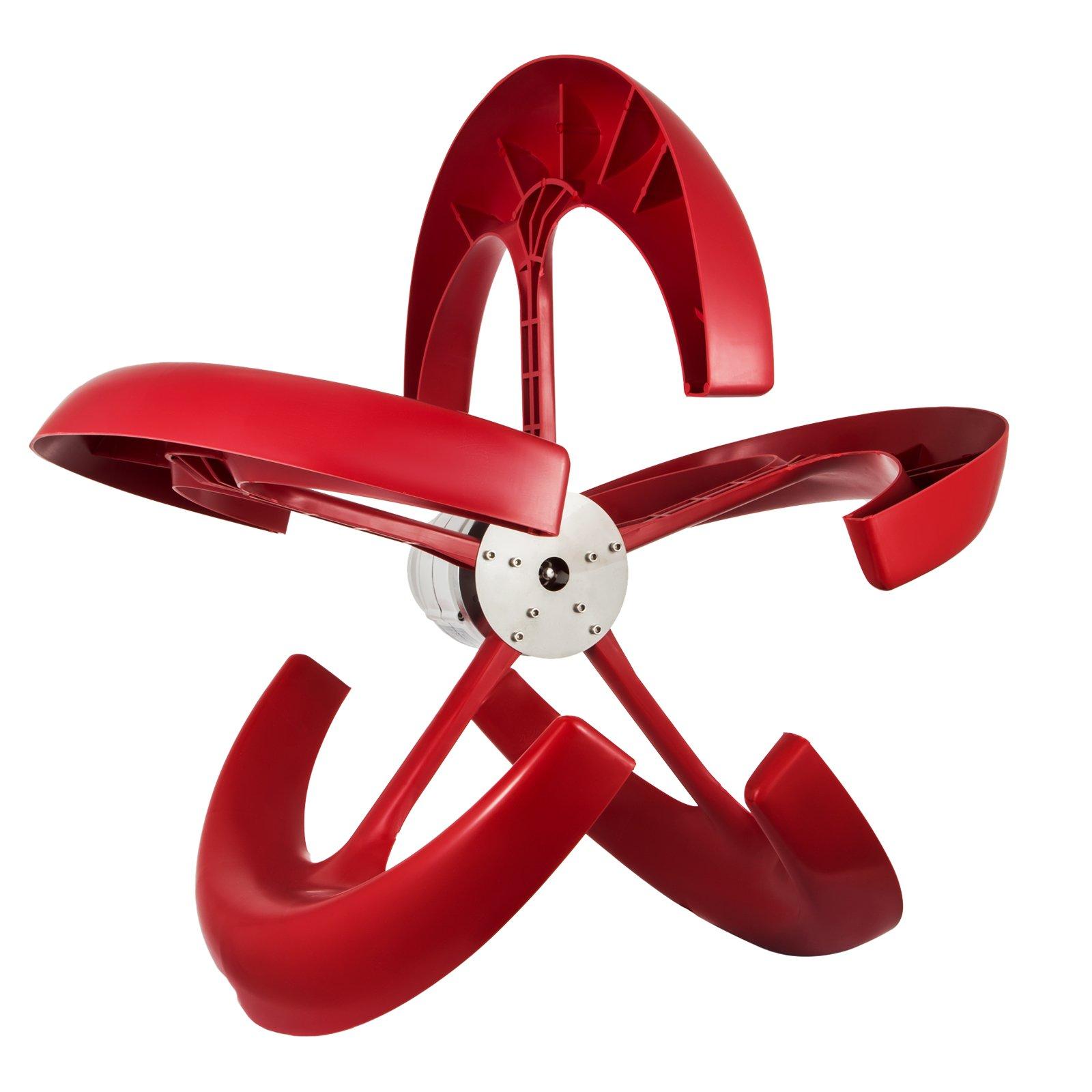 Happybuy Wind Turbine 300W 12V Wind Turbine Generator Red Lantern Vertical Wind Generator 5 Leaves Wind Turbine Kit with Controller No Pole (300W 12V, Red) by Happybuy (Image #4)