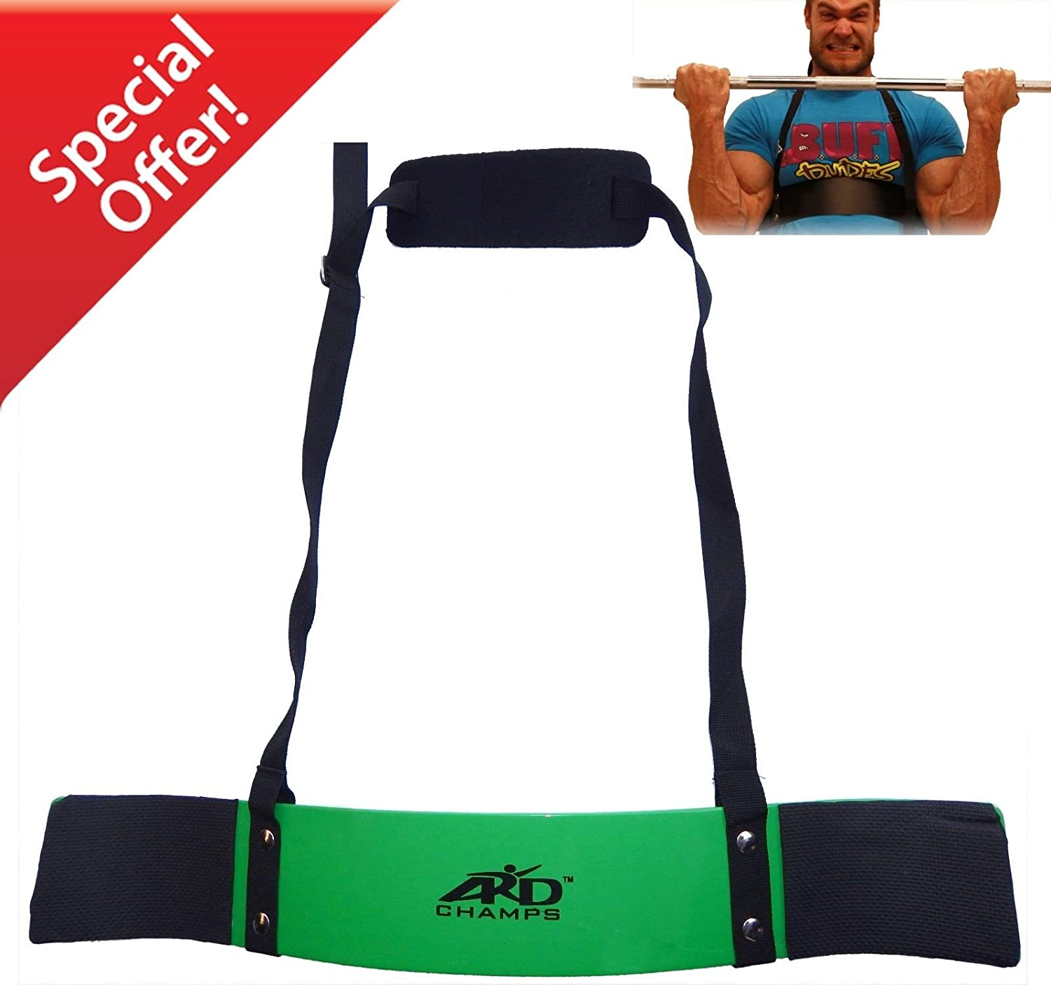 ARD-Champs Heavy Duty Arm Blaster Body Building Bomber Bicep Curl Triceps Green New