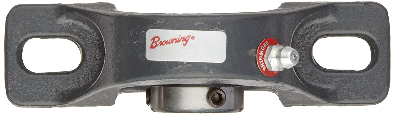 1-1//16 Base To Center Height 2 Bolt Inch Browning VPLS-208 Pillow Block Ball Bearing Setscrew Lock Contact and Flinger Seal Cast Iron 1//2 Bore