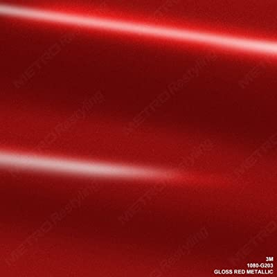 3M 1080 G203 GLOSS RED METALLIC 3in x 5in (SAMPLE SIZE) Car Wrap Vinyl Film: Automotive