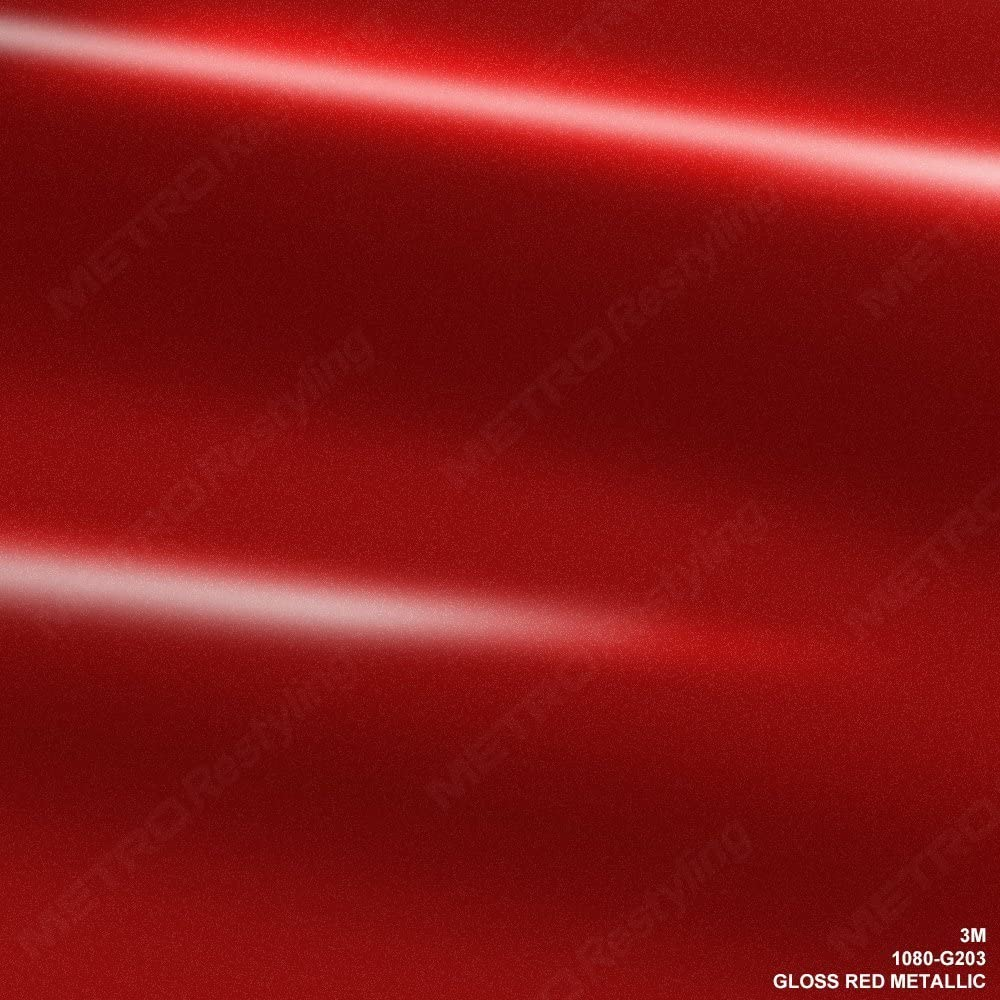 3m 1080 G203 Gloss Red Metallic 5ft X 1ft 5 Sq Ft Car Wrap Vinyl Film Auto