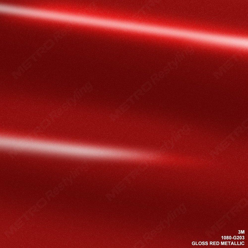 3M 1080 G203 GLOSS RED METALLIC 5ft x 1ft (5 sq/ft) Car Wrap Vinyl Film