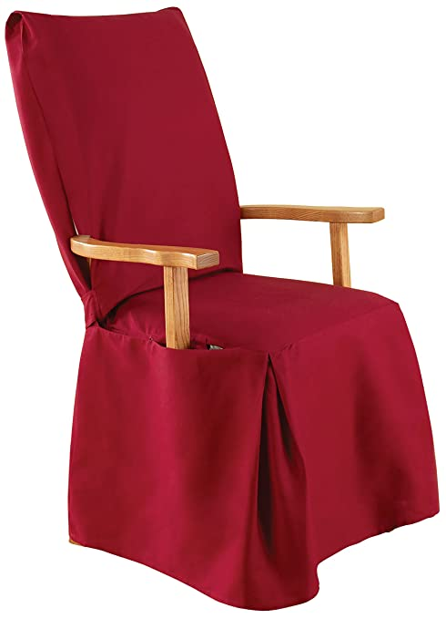 Image Unavailable Not Available For Color SureFit Cotton Duck Dining Room Chair Slipcover With Arms