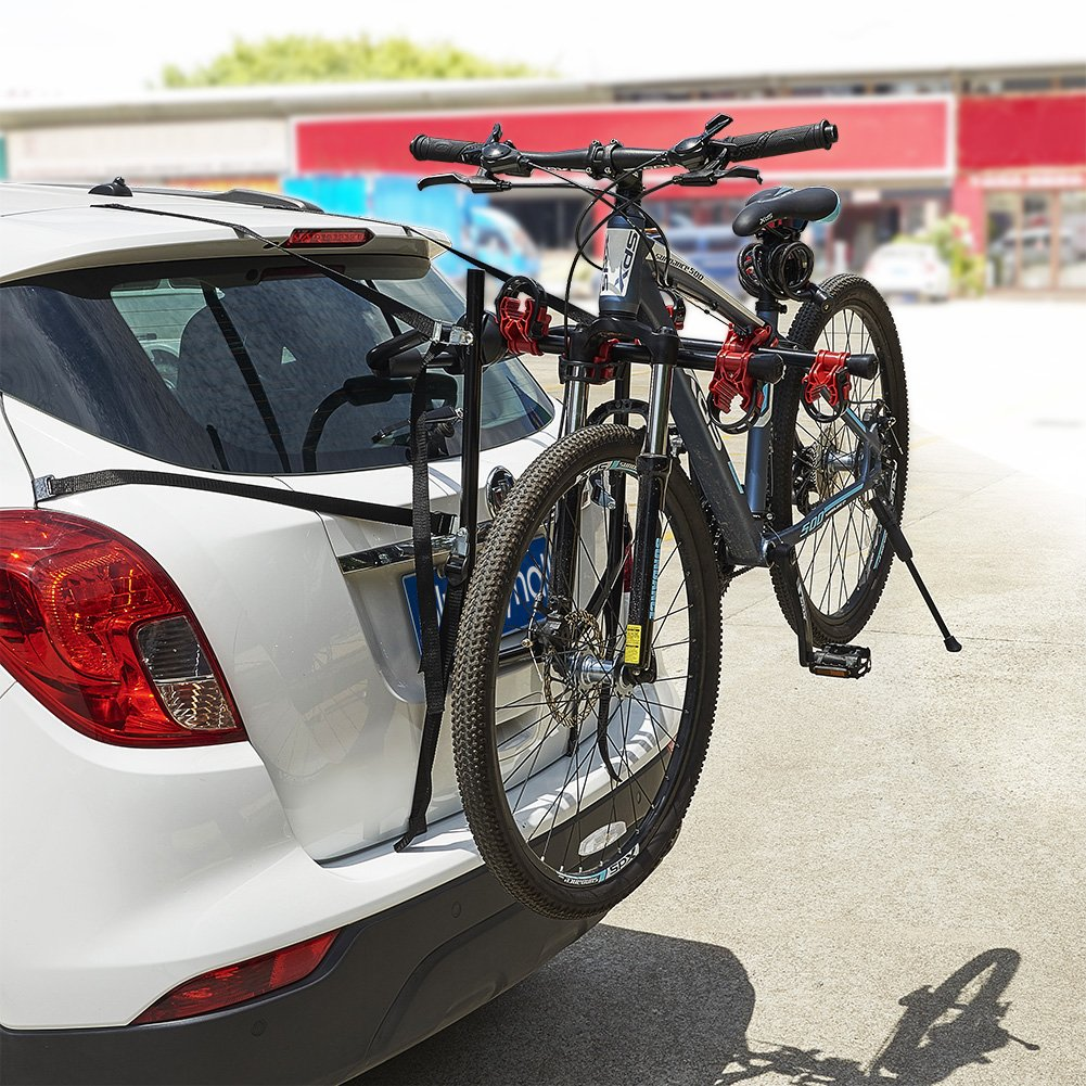 Vehicle Bicycle Rack Amazon.com : Blueshyhall Bike Carrier Trunk Mount Bike Rack for SUV Car  Heavy Duty 3 Bike Carrier Mount : Sports u0026 Outdoors