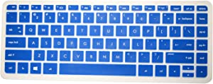 "PcProfessional Blue Ultra Thin Silicone Gel Keyboard Cover for HP Pavilion X360 Convertible 2 in 1 13.3"" Laptop with Application Kit (Please Compare Keyboard Layout and Model)"