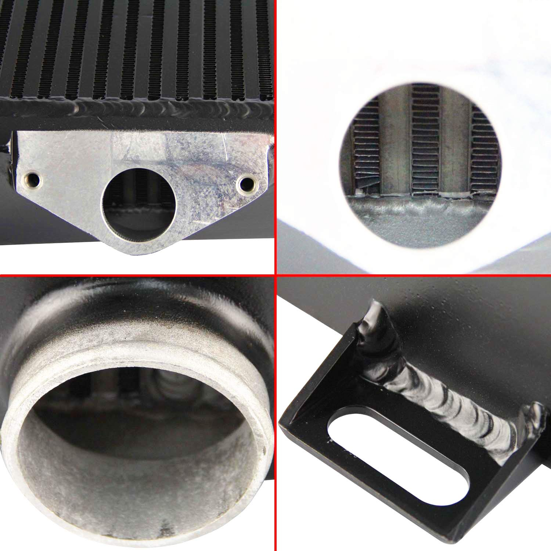 New Top-Mount Intercooler Kit w//Silicone Hoses For Subaru WRX//STI 02-07 Black