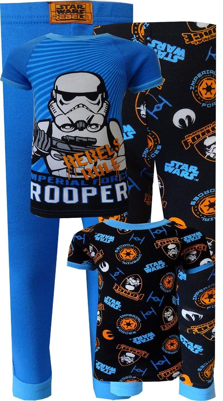 Komar Kids Boys Star Wars Rebels Storm Troopers 4 Pc Toddler Pajamas