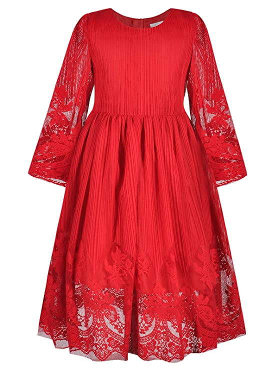Victorian Kids Costumes & Shoes- Girls, Boys, Baby, Toddler Bonny Billy Girls Classy Embroidery Lace Maxi Flower Girl Dress $22.88 AT vintagedancer.com